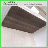 La pared de mármol de madera del azulejo del café labra el azulejo de suelo