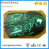 2015 ratones atados con alambre USB ópticos Caliente-Vendedores del juego de 6 botones LED