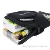 Fácil llevar el bolso móvil corriente del brazo con la impresión de la insignia