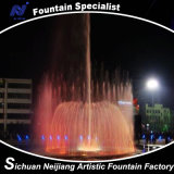Dynamischer musikalischer Tanzen-Brunnen im See