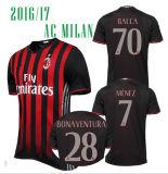 Kundenspezifische preiswerte oberste siamesische Großhandelsqualität 2016 2017 Italien-Fußball Jersey Associazione Calcio Mailand