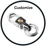 Metal redondo personalizado Keychain do logotipo 3D