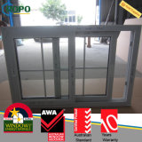 PVC Windows deslizante de 2 painéis com punho de Roto