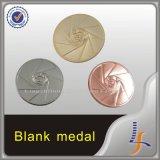 De cobre de prata do ouro morrem a medalha em branco do molde 3D