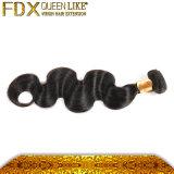 人間の毛髪の卸売の自然で黒いインドの毛(FDX-TJ-IB41)