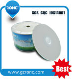 CD en blanco imprimible brillante de los CD-R 52X 700MB