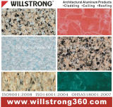 0.3mmの石造りパターンはPE/PVDFのコーティングが付いているアルミニウムコイルをPrepainted