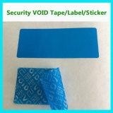 Collant de vide de garantie de garantie ; Étiquette de vide de coutume