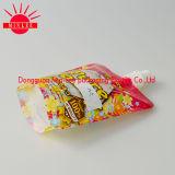 Plástico levantarse la bolsa de la réplica del alimento del canalón para el empaquetado del jugo
