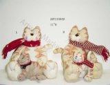 """"""" gatto del panno morbido di H 11 con il bambino, decorazione di Asst-Natale 2"""