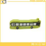 Movimentação relativa à promoção do flash do USB da forma do barramento do PVC 3D do costume 8GB