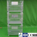 Envase de almacenaje logístico plegable del acoplamiento de alambre del rodillo de la carretilla del almacén