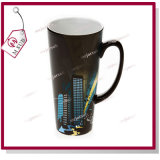 taza cambiante Latte del color sensible al calor negro brillante de 17oz