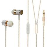 Écouteur mains libres en métal d'Earbuds en métal d'accessoires de téléphone portable