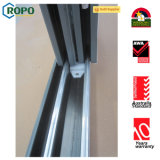 Porte de glissière en PVC insonorisée de haute qualité avec store intérieur