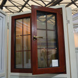 Guichet en bois en aluminium de tissu pour rideaux d'interruption thermique colorée de la qualité Kz250 avec la glace multi de double de blocage avec le réseau