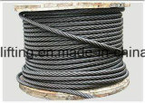 Kabel de van uitstekende kwaliteit van de Draad van het Staal 6*37 van China