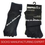 Cinque calzini del cotone delle barrette cinque calzini della punta