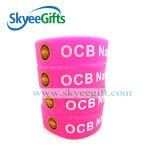 modo Printed Silicone Wristband con Customized Logo