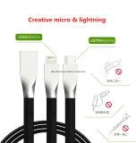 Micro- USB van het Jasje van het metaal USB HoofdStof Gevlechte Kabel voor iPhone en Samsung, Xiaomi, Huawei