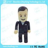 Azionamento convenzionale nero del USB della gente dell'uomo di affari del vestito (ZYF1839)