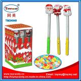 Barre en plastique de Santa allumant le jouet musical avec la sucrerie