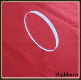 Plat polonais fondu circulaire clair de disque en verre de quartz