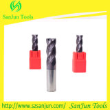 HRC55 Tungsten Steel Carbide Flat End Milling Cutter para CNC Lethe Machine
