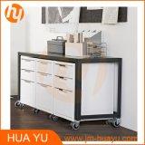 Шкаф хранения ящиков движимости 3 металла порошка мебели покрытый для живущий комнаты