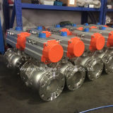 vávula de bola de flotación 2PC con el solo actuador neumático