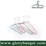 Metal Shirt Clothes Hanger for Woman Garment with PVC Steel Display Clips Suit Hangers (GLM032)