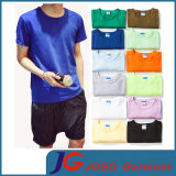 Burlone T-Shirt di Color Loose della caramella per Men (JS9036m)
