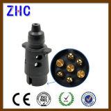 Enchufe de potencia plástico del estándar europeo del enchufe y del socket del acoplado del carro del Pin del precio de fábrica 7