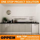 Gabinete de cozinha de madeira da laca interna moderna do projeto de Oppein Austrália (OP14-L04)
