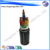 Cable acorazado de la corriente eléctrica de XLPE del aislamiento de la envoltura resistente al fuego incombustible del PVC