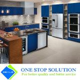 Mobília moderna dos gabinetes de cozinha do revestimento azul novo da cor (ZY 1048)