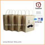 Art Paper Holiday Gift Packaging Shopping Bag avec Handle
