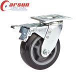 4inches Heavy Duty Caster giratoria con la rueda de la PU Negro