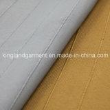 Do poliéster da largura incêndio largo inerente - ouro retardador tela à prova de fogo tecida listrada da cortina