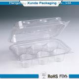 Queque plástico transparente personalizado que empacota para a venda
