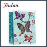 bolsos del regalo del papel del portador de las compras del diseño de Buttlefly del papel de marfil 210GSM