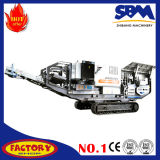 Trituradora movible machacante móvil del mineral de hierro de la planta del mineral de hierro