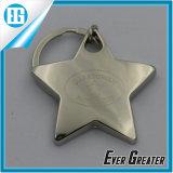 カスタム小型星の形の銀の金属のキーホルダー