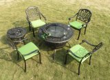 Cadeira do lazer do pátio do parque com mobília do alumínio de molde da parte traseira da borboleta e da tabela do jardim