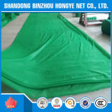 Filet de sécurité vert de polyéthylène d'échafaudage de construction
