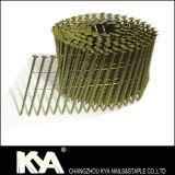 Clous pneumatiques galvanisés de bobine de palette de partie lisse de vis
