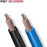 Fil électrique et câble d'isolation de cuivre de PVC échoué par 7