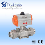 Stainless Steelの2部分Pneumatic Ball Valve
