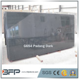 Lastre del granito del nero scuro di G654 Padang per le mattonelle di pavimentazione/mattonelle della parete