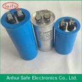 Condensador redondo de aluminio del cilindro Cbb65 de Cbb65A